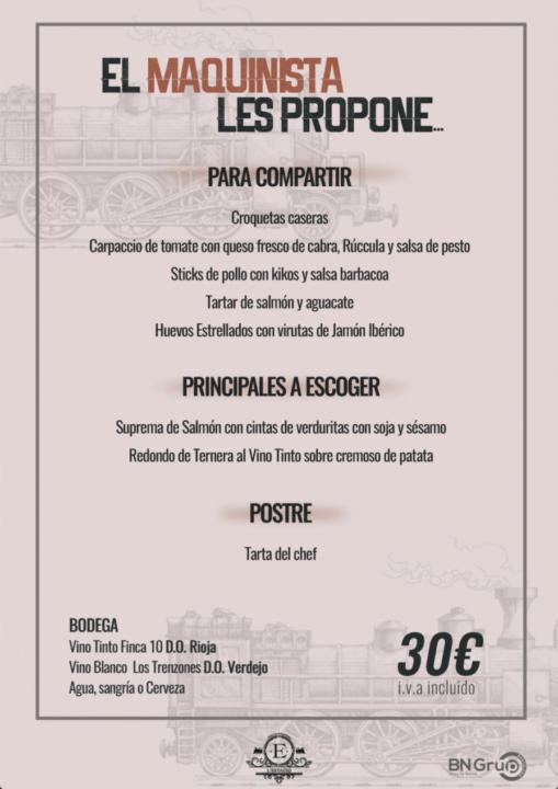 30 menu banquete estacio