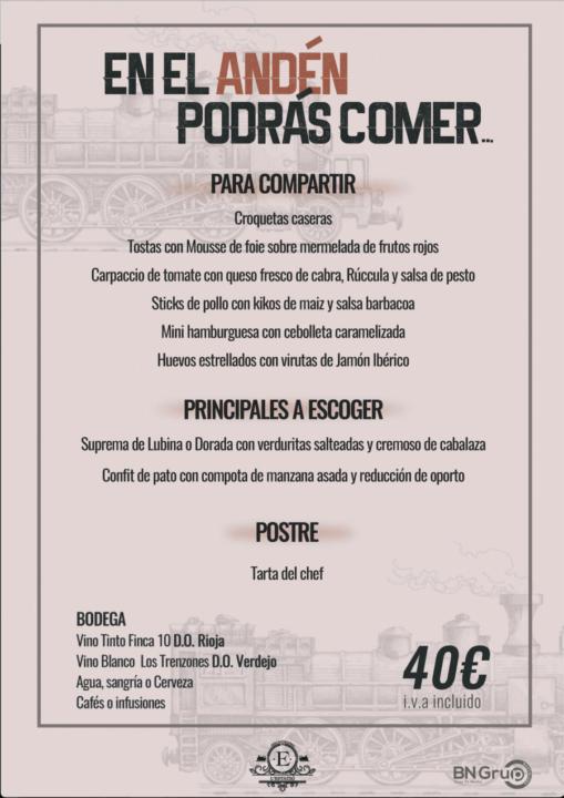 40 menu banquete Estacio