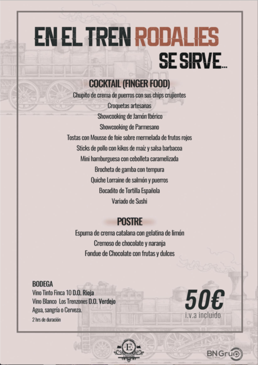 50 menu COCKTAIL Estacio