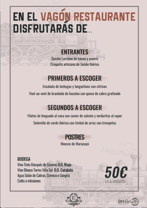 50 menu banquete Estacio