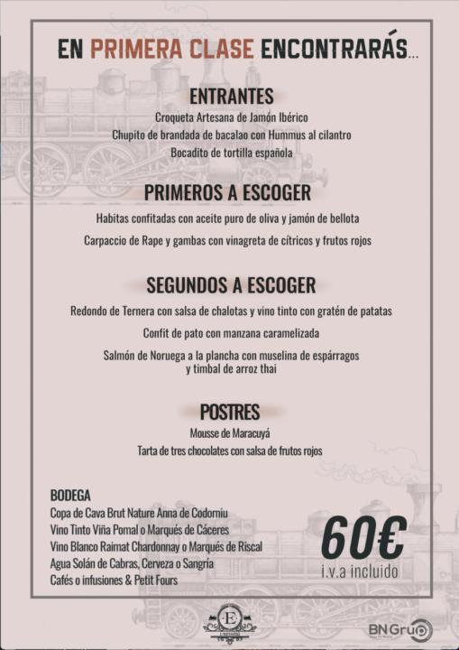 60 menu banquete Estacio